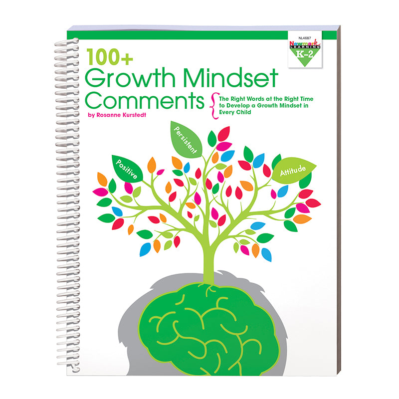 100 Growth Mindset Comments: Grades K-2