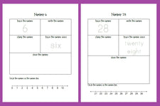Awesome Number Printables from The Home Teacher!