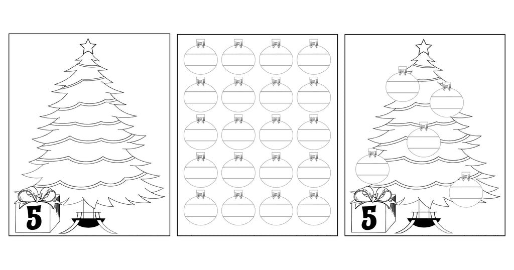 FREE Printable Christmas Ornament Counting Activity!