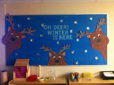 """Oh Deer, Winter Is Here!"" Winter Themed Bulletin Board"