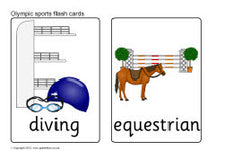 Summer Olympics - Fun with Olympic Sports Flash Cards