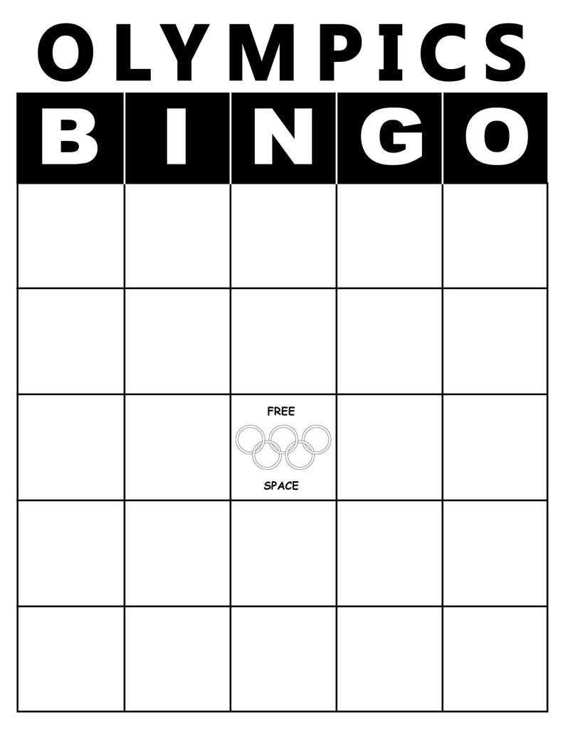 image about Printable Olympic Schedule named No cost Printable Olympics Bingo Sport! SupplyMe