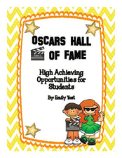 Oscar's Hall of Fame: Inspiring Higher Level Thinking Learning!