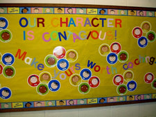 Our Character is Contagious! - Inspirational Bulletin Board