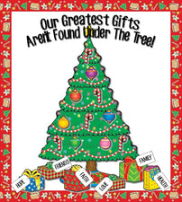 Our Greatest Gifts... - Christmas Bulletin Board Idea