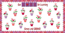 Our LOVE For Learning Grows & GROWS! - Valentine's Day Bulletin Board