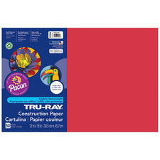 "Tru-Ray® Construction Paper, 12"" x 18"" Holiday Red"
