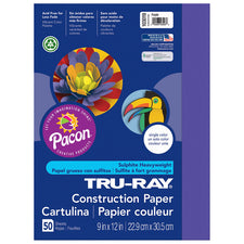"Tru-Ray® Construction Paper, 9"" x 12"" Purple"