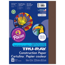 "Tru-Ray® Construction Paper, 9"" x 12"" Dark Brown"