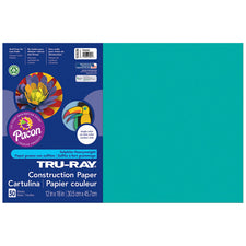 "Tru-Ray® Construction Paper, 12"" x 18"" Turquoise"