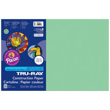 "Tru-Ray® Construction Paper, 12"" x 18"" Light Green"