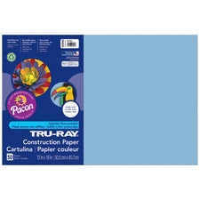 "Tru-Ray® Construction Paper, 12"" x 18"" Sky Blue"
