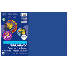 "Tru-Ray® Construction Paper, 12"" x 18"" Royal Blue"