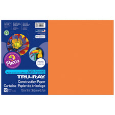 "Tru-Ray® Construction Paper, 12"" x 18"" Electric Orange"