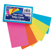 Index Cards, 3″ x 5″, Super Bright, Unruled