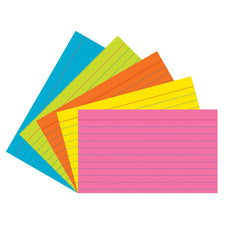 Index Cards, 3″ x 5″, Super Bright, Ruled