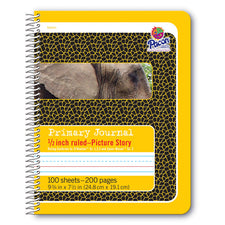 Pacon® Spiral Bound Composition Book, Picture Story Ruled 1/2″ Short Way
