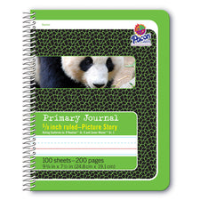 Pacon® Spiral Bound Composition Book, Picture Story Ruled 5/8″ Short Way