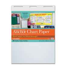 Heavy Duty Anchor Chart Paper, Unruled, 27″ x 34″