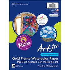 "Art1st® Gold Frame Watercolor Paper, 9"" x 12"""