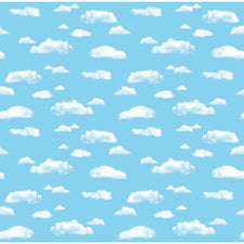"Fadeless® Clouds Paper, Four 48"" x 12' Rolls"