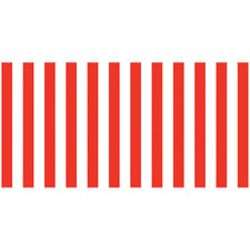 Fadeless® Classic Stripes Red & White Paper Roll, 48″ x 50′