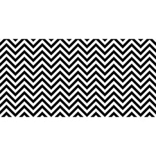 Fadeless® Chic Chevron Black & White Paper Roll, 48″ x 50′
