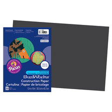 "SunWorks® Construction Paper, 12"" x 18"" Black"