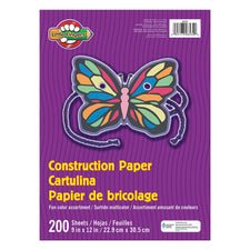 "Little Fingers® Assorted Construction Paper, 9"" x 12"" (200 Sheets)"
