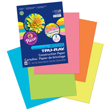 "Tru-Ray® Construction Paper, 9"" x 12"" Assorted Hot Colors"