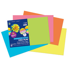 "Tru-Ray® Construction Paper, 12"" x 18"" Assorted Hot Colors"
