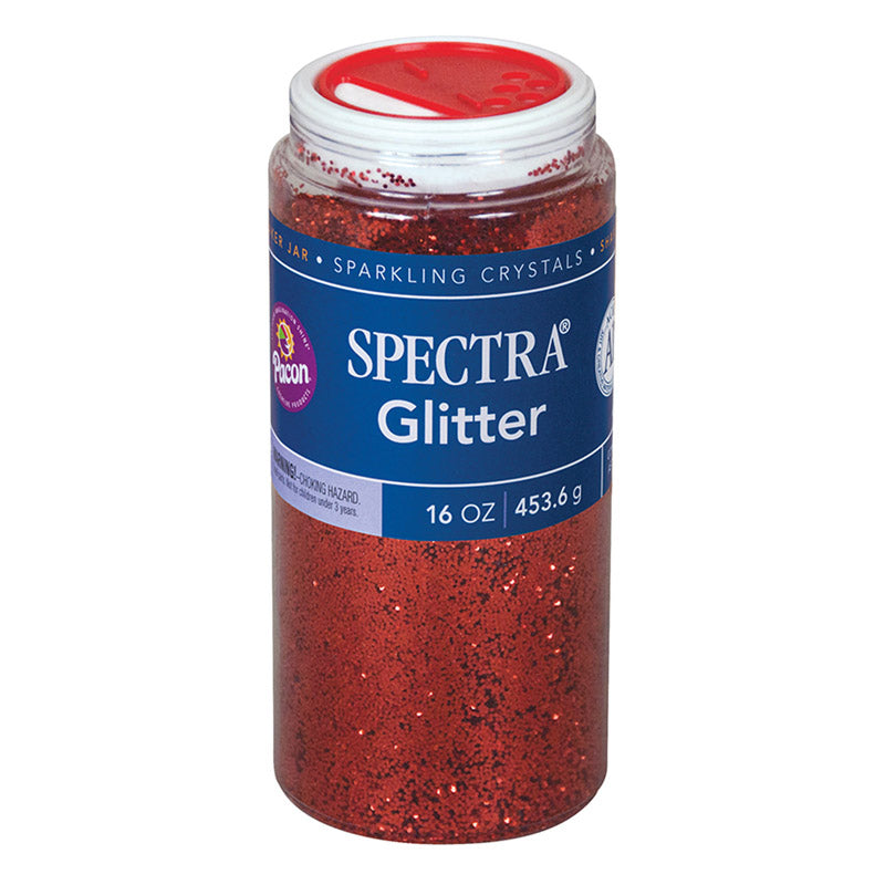 Pacon Spectra® Glitter, 1 Lb. Red
