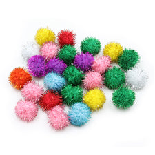 Creativity Street® Glitter Pom Pons, 33mm Assorted