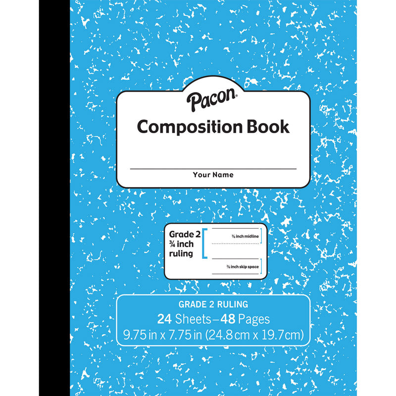 Pacon® Soft Cover Composition Book, 3/4″ Ruled, Blue Marble