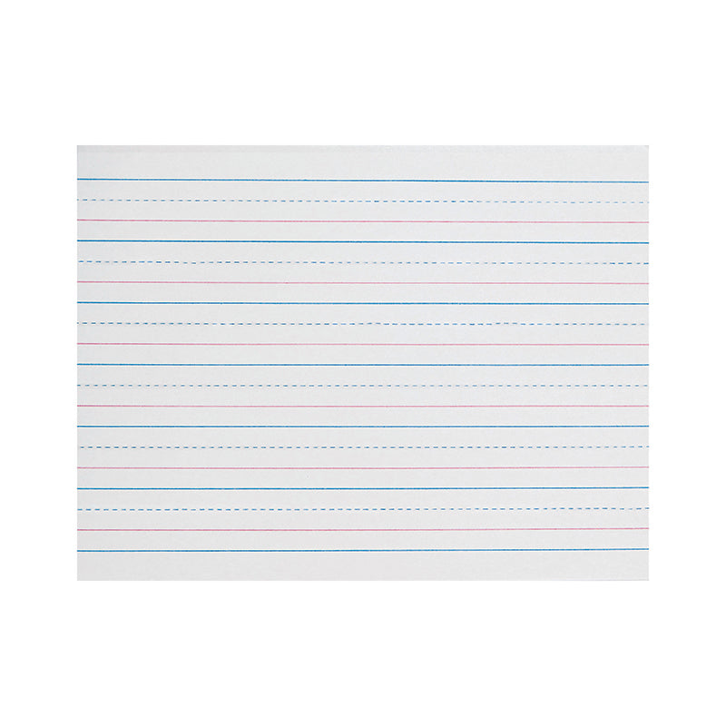 "Zaner-Bloser™ Broken Midline Sulphite Paper, 3/4"" Ruled Long Way, Grade K"