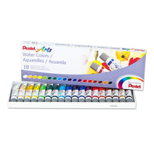 Pentel Arts Watercolor Set, 18 Colors