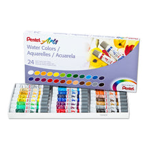 Pentel Arts Watercolor Set, 24 Colors