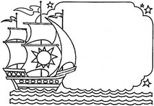 Columbus Day - The New World Coloring Page