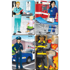 Occupations Tray Puzzles, Set of 4