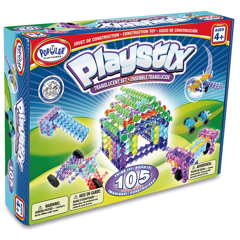 Playstix Transparent Set, 105 Pieces