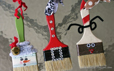 Paint Brush Ornaments - Craft for Kids & Great DIY Gift Idea!