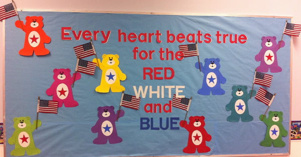 Quot Every Heart Beats True Quot Patriotic Bears Bulletin