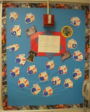 Red, White & Blue - Patriotic Bulletin Board