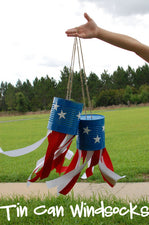 Patriotic Flag Day Wind Sock Craft