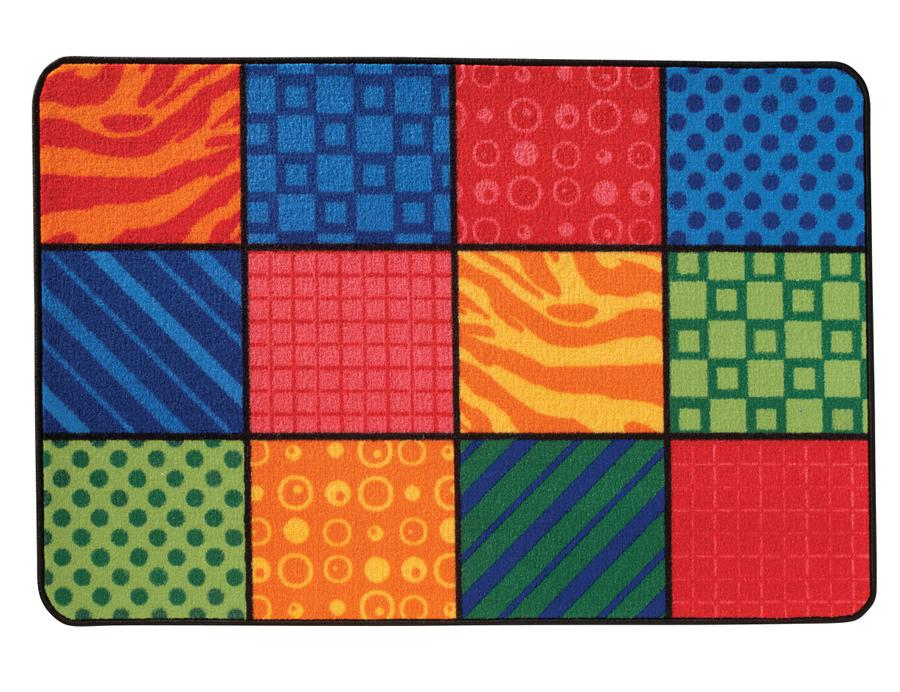 "Patterns At Play KID$ Value Discount Classroom Rug, 3' x 4'6"" Rectangle"