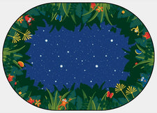 "Peaceful Tropical Night Classroom Rug, 3'10"" x 5'5"" Oval"