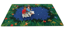 "Peaceful Tropical Night Classroom Rug, 3'10"" x 5'5"" Rectangle"