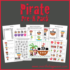 Pirate Pre-K Pack from Over The Big Moon