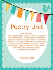 Poetry Unit Plus FREEBIE!