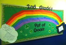 Pot of 'Goals'! - St. Patrick's Day Bulletin Board